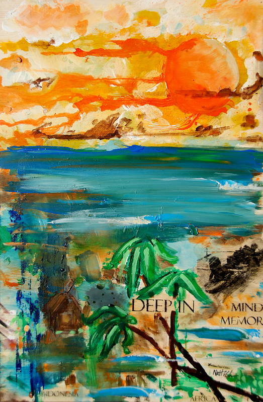 Sunset Art Print featuring the painting Deep In Mind Memory by Nathan Paul Gibbs