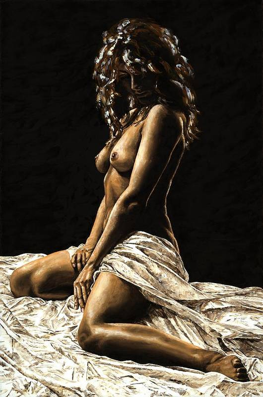 Nude Art Print featuring the painting Defiance by Richard Young
