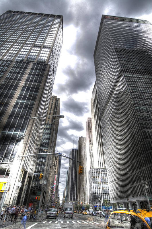 City Art Print featuring the photograph Downtown Hdr by Robert Ponzoni