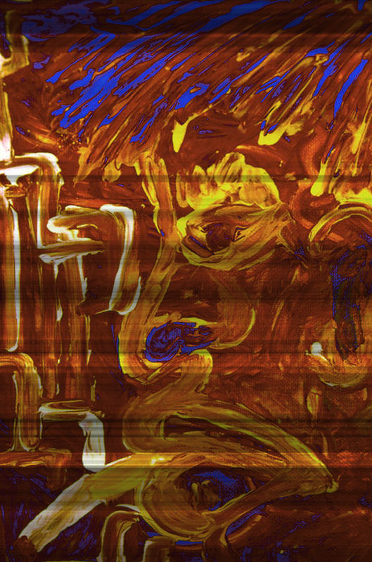 Abstract Art Art Print featuring the painting Drunk Without Luck by Mark Matthews