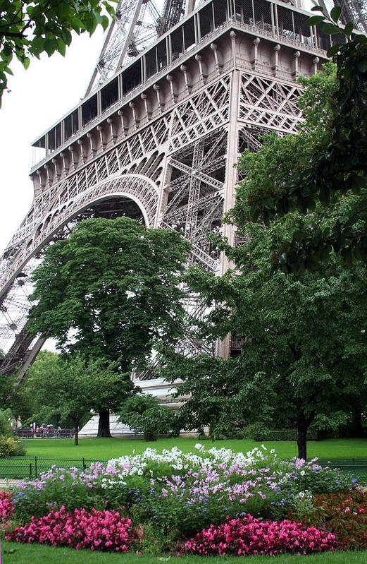 Eiffel Art Print featuring the photograph Eiffel Tower Garden by Margie Wildblood
