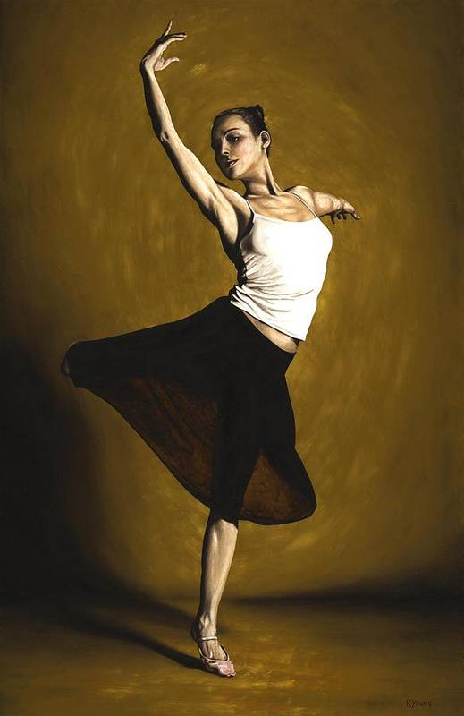 Elegant Art Print featuring the painting Elegant Dancer by Richard Young