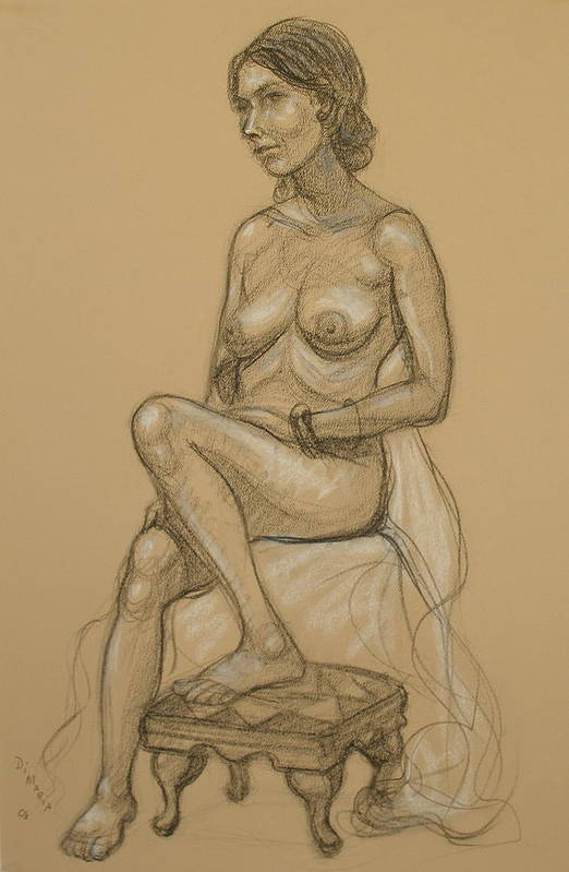 Realism Art Print featuring the drawing English Model 3 by Donelli DiMaria