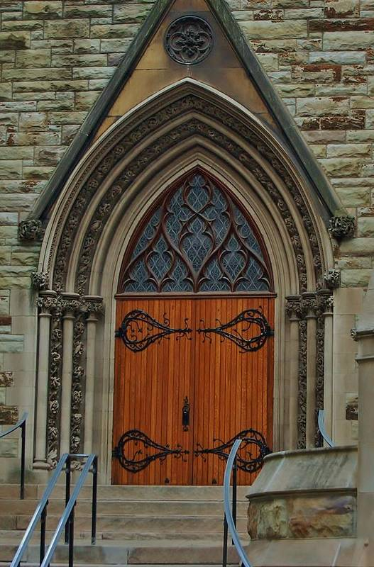Pittsburgh Art Print featuring the photograph First Presbyterian Church Door by Christopher James