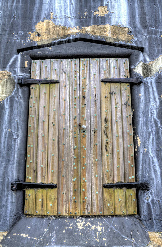Fort Art Print featuring the photograph Fort Moultrie Bunker Door by Dustin K Ryan