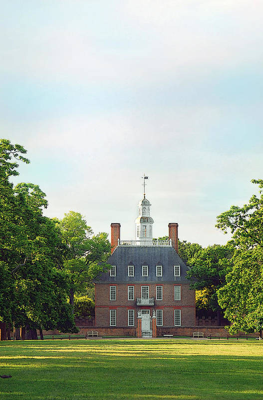 Colonial Williamsburg Photograph Art Print featuring the photograph Governor Palace - Williamsburg by Panos Trivoulides