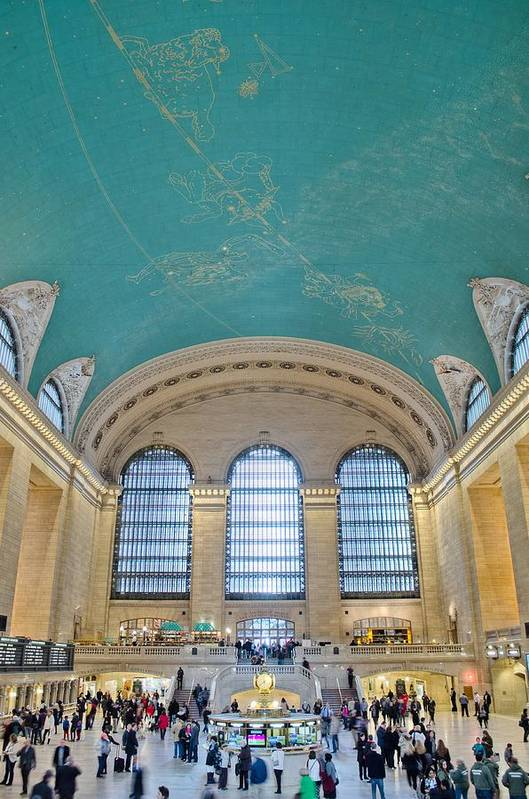 Architecture Art Print featuring the photograph Grand Central Rush by Jonathan Collins