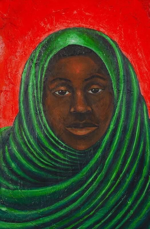 Maliksart Art Print featuring the painting Heaven by Malik Seneferu