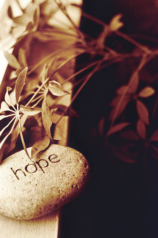Hope Art Print featuring the photograph Hope Stone 1 by Linnea Tober