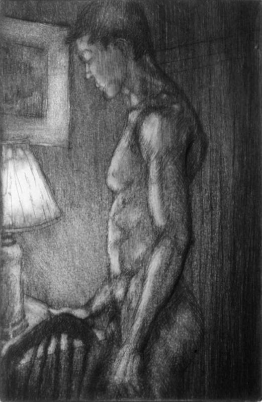 Man Art Print featuring the drawing Incandescent by John Clum