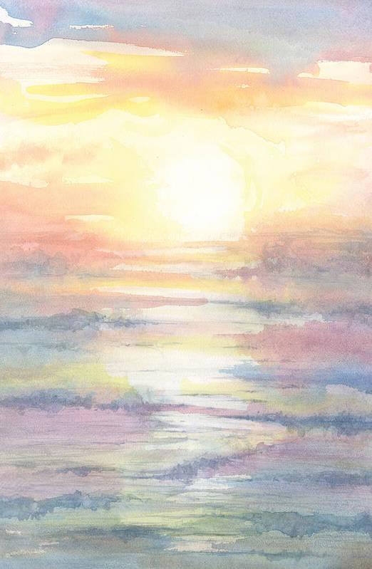 Ocean Art Print featuring the painting Joy by Al Cazu Alan Williamson