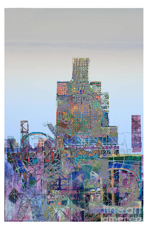 City Art Print featuring the digital art Junk by Andy Mercer