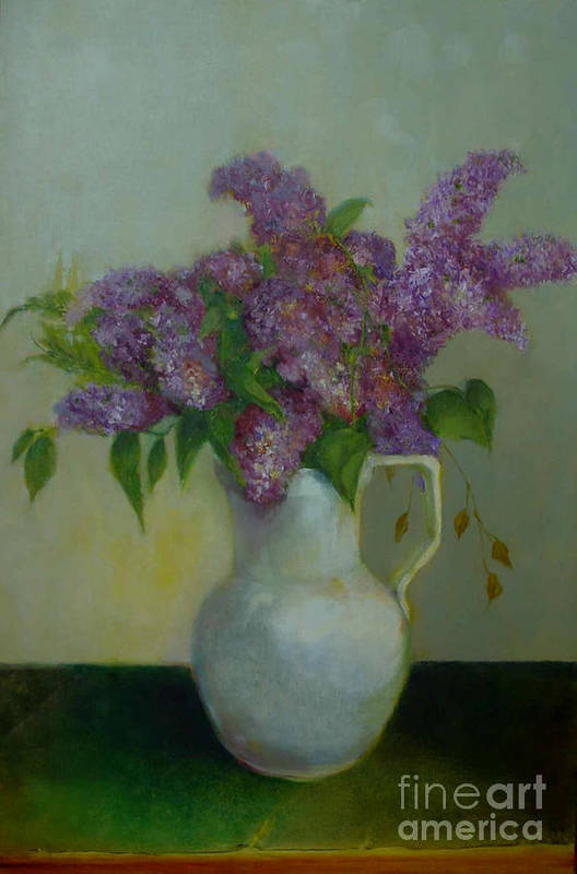 Greeting Card Art Print featuring the painting Just Lilacs         Copyrighted by Kathleen Hoekstra
