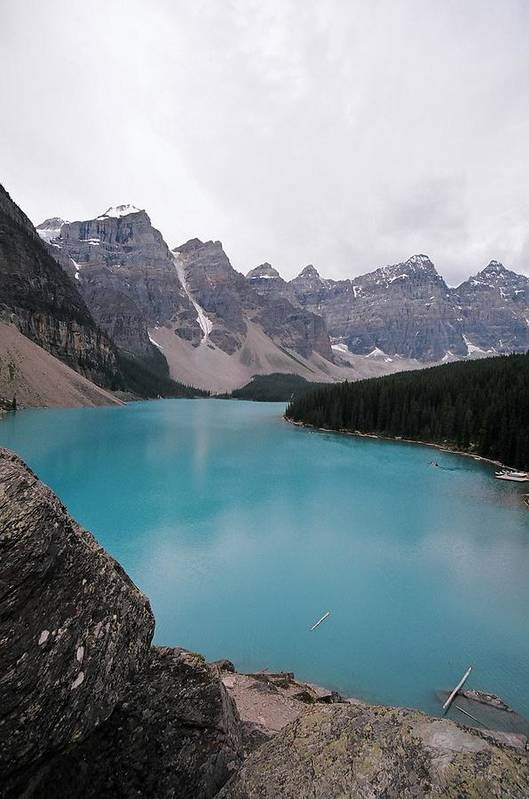 Landscape Art Print featuring the photograph Lake Moraine by Caroline Clark