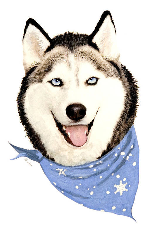 Siberian Husky Art Print featuring the painting Lets Go by Brent Ander