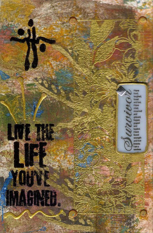 Understanding Art Print featuring the mixed media Life As You Imagined It by Angela L Walker