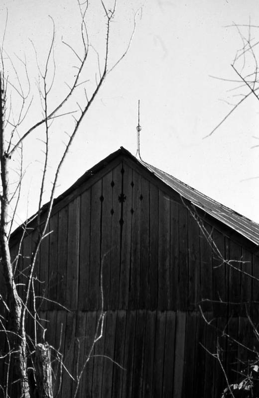 Ansel Adams Art Print featuring the photograph lloyd-shanks-barn-1BW by Curtis J Neeley Jr