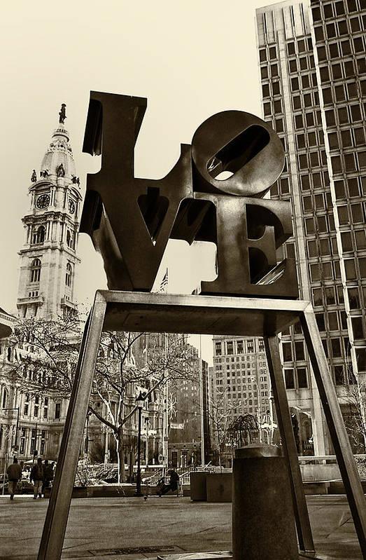 Love Art Print featuring the photograph Love Philadelphia by Jack Paolini