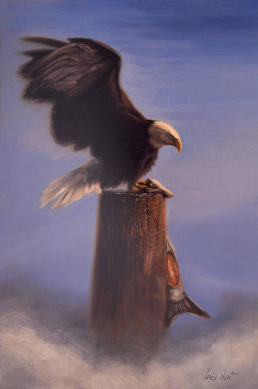 Oil Art Print featuring the painting Majestic by Greg Neal
