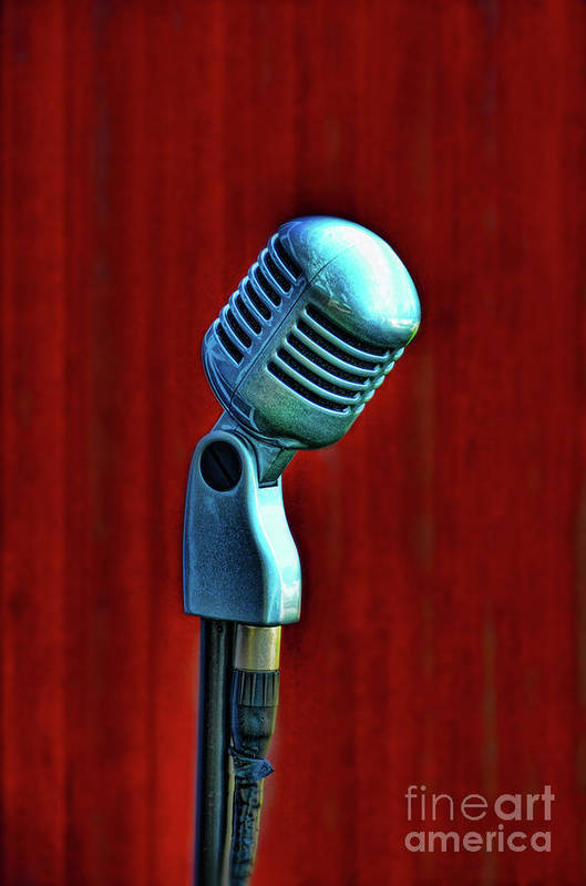 Microphone Art Print featuring the photograph Microphone by Jill Battaglia