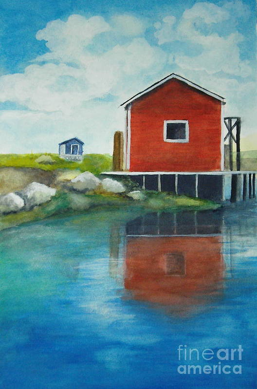 Landscape Art Print featuring the painting Molly by Vivian Mosley