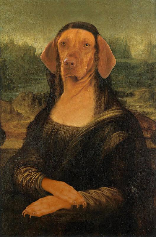 Mona Lisa Art Print featuring the digital art Mona Visla by Galen Hazelhofer