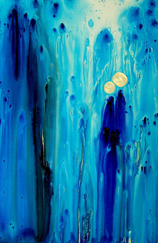 Abstract Art Art Print featuring the painting Never Alone by Sharon Cummings