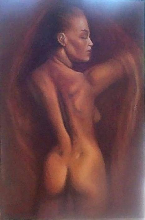 Woman Art Print featuring the painting Nude 1 by Elizabeth Silk