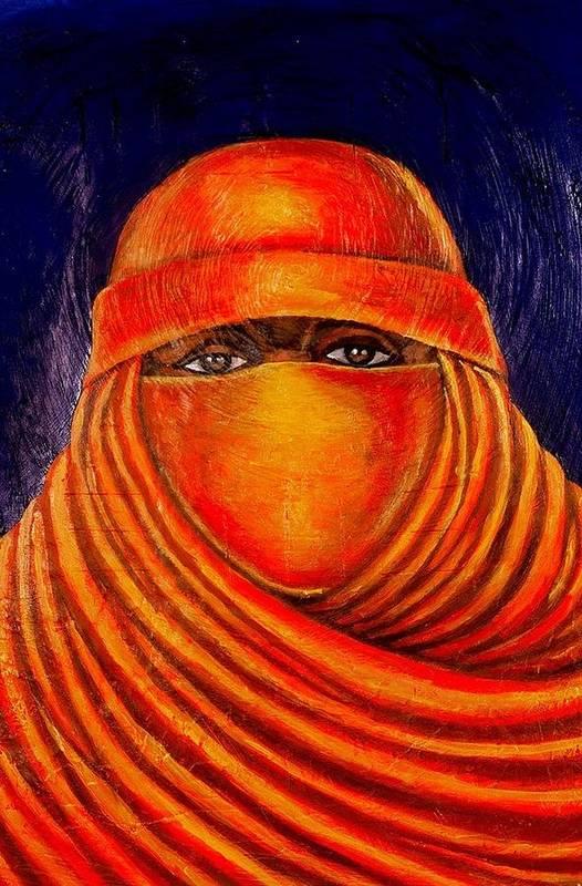 Maliksart Art Print featuring the painting Nzuri by Malik Seneferu