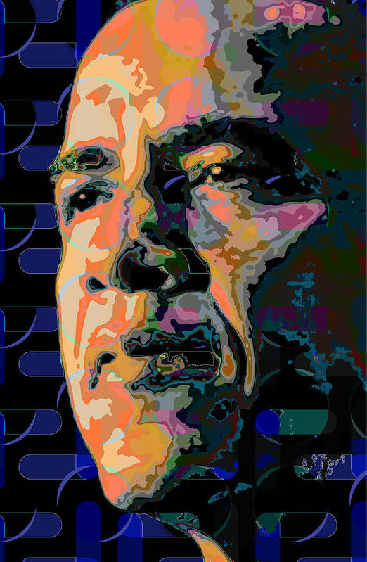 Obama Art Print featuring the painting Obama by Scott Davis