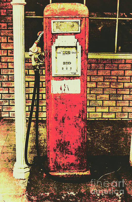Petrol Art Print featuring the photograph Old Roadhouse Gas Station by Jorgo Photography - Wall Art Gallery