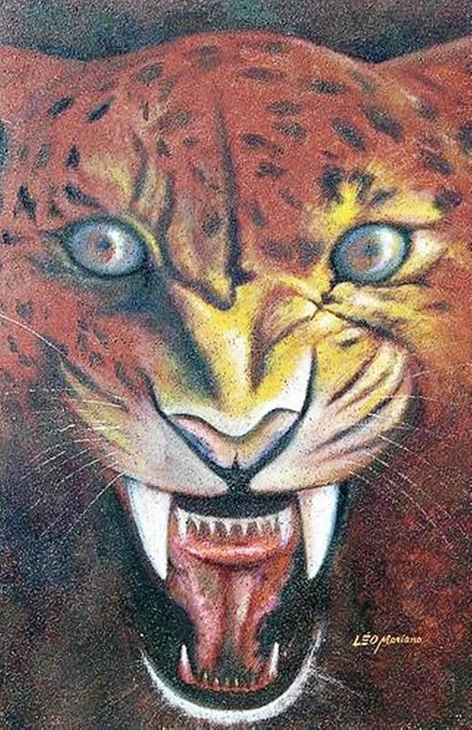 Animal Art Print featuring the painting Onca Pintada by Leomariano artist BRASIL