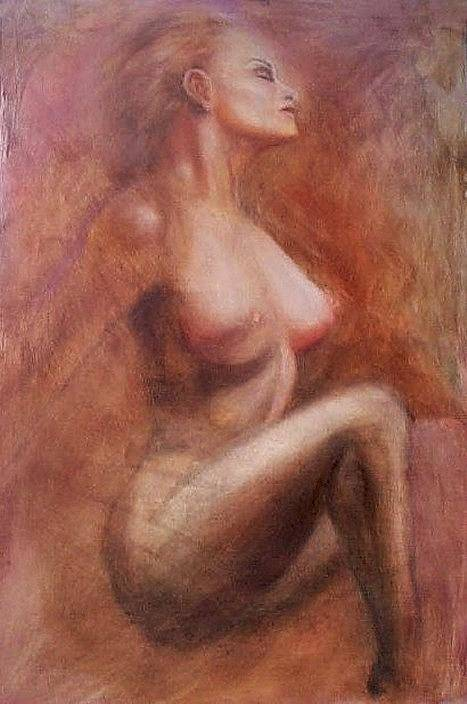 Woman Art Print featuring the painting Passionate Woman by Elizabeth Silk