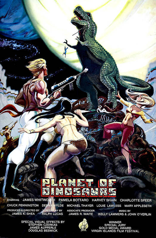 1970s Poster Art Art Print featuring the photograph Planet Of Dinosaurs, 1-sheet Poster by Everett