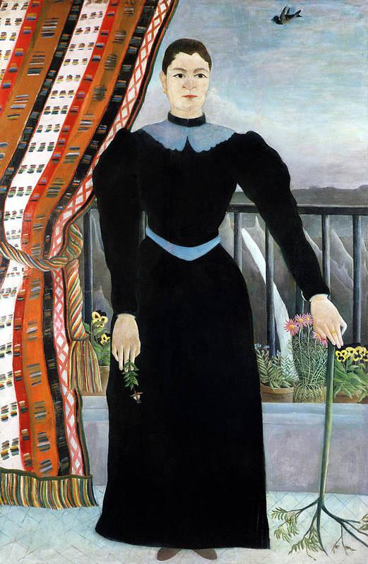Portrait Print featuring the painting Portrait Of A Woman by Henri Rousseau
