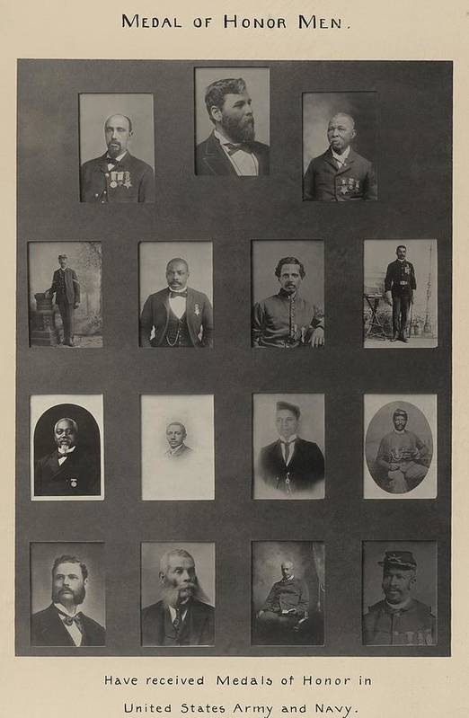History Art Print featuring the photograph Portraits Of 15 African American by Everett