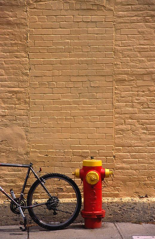 Bicycle Art Print featuring the photograph Quebec Hydrant by Art Ferrier