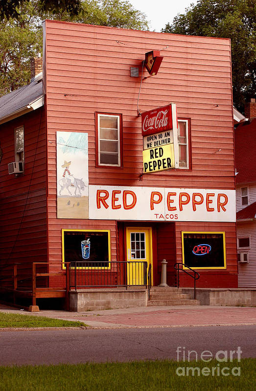 Redpepper Art Print featuring the photograph Red Pepper Restaurant by Steve Augustin