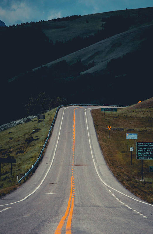 Road Art Print featuring the photograph Road To The Mountains by Ethan Helferty