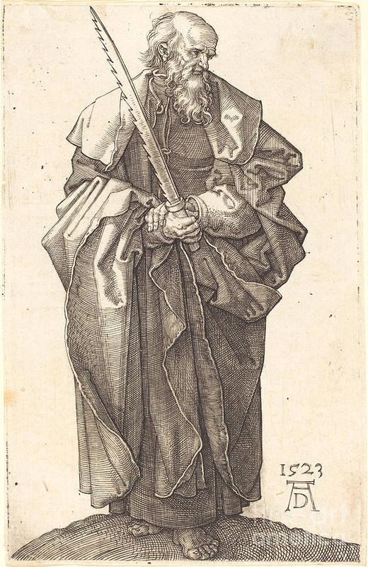 Art Print featuring the drawing Saint Simon by Albrecht D?rer