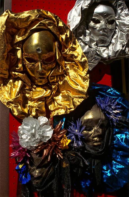 Venice Art Print featuring the photograph Shiny Masks In Venice by Michael Henderson