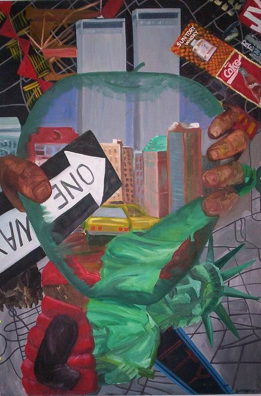 New York Art Print featuring the painting The Big Apple by Lauren Luna