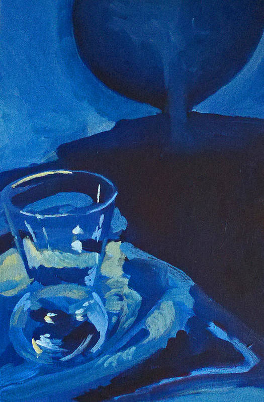 Still Life Art Print featuring the painting The Blues by Lauren Luna