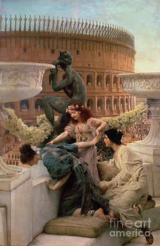 The Art Print featuring the painting The Coliseum by Sir Lawrence Alma-Tadema