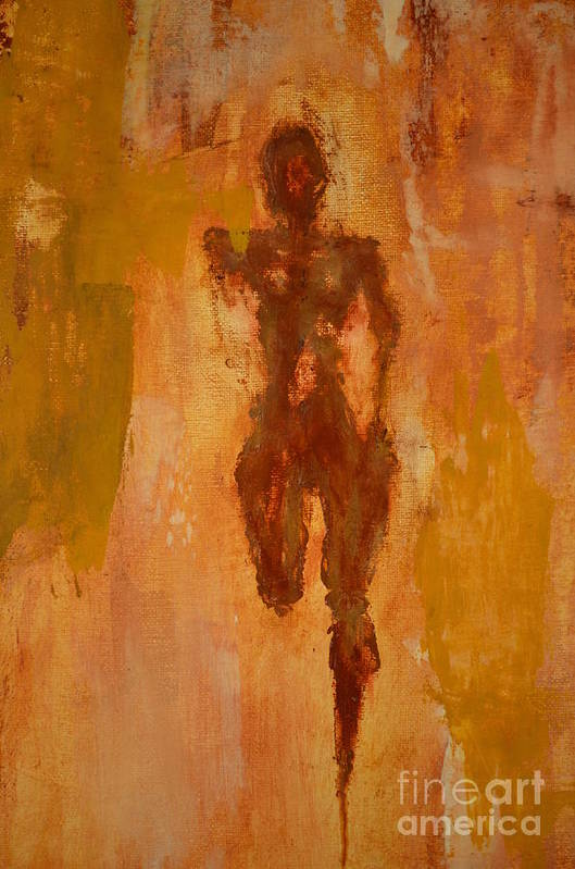 Abstract Art Print featuring the painting The Runner- Life's Journey by Vincent Avila