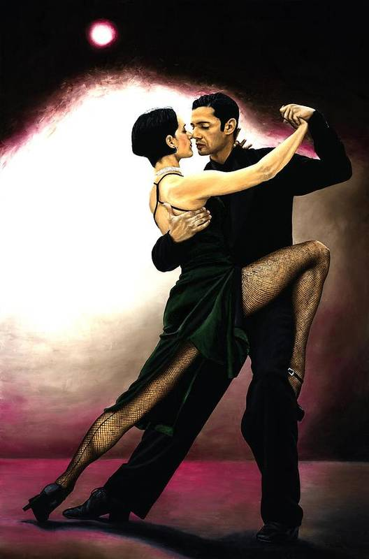 Tango Art Print featuring the painting The Temptation Of Tango by Richard Young