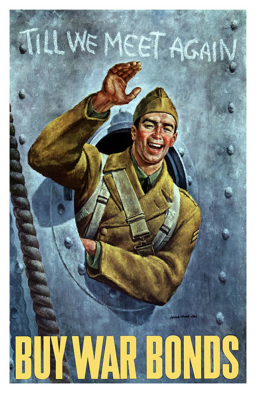 Soldier Art Print featuring the painting Till We Meet Again -- Ww2 by War Is Hell Store