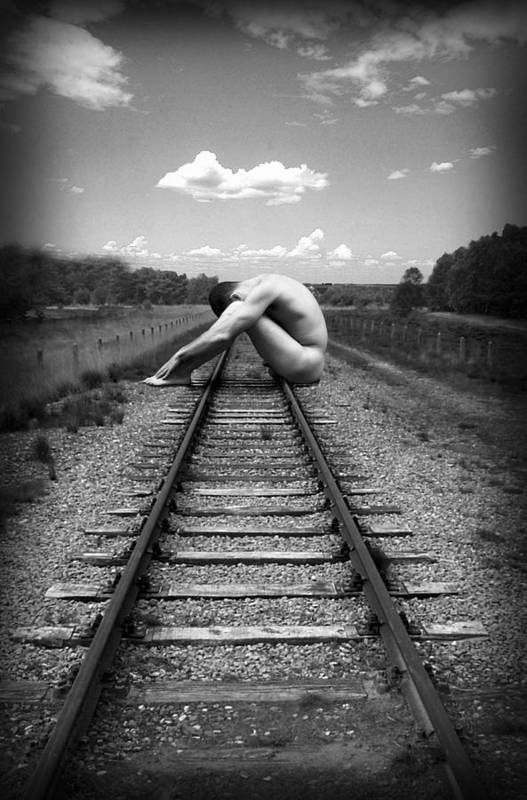 Photo Collage Art Print featuring the photograph Tracks by Chance Manart