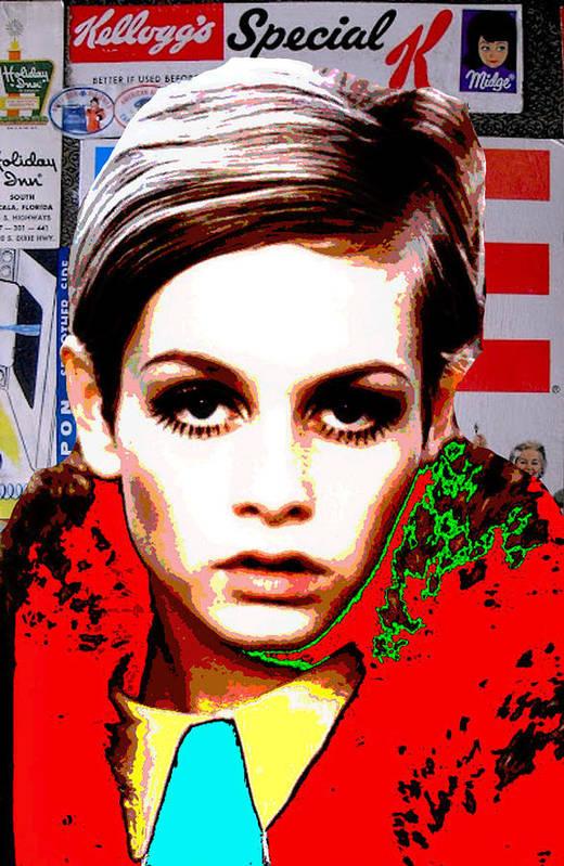 Twiggy Print featuring the digital art Twigg 2 by Chandler Douglas