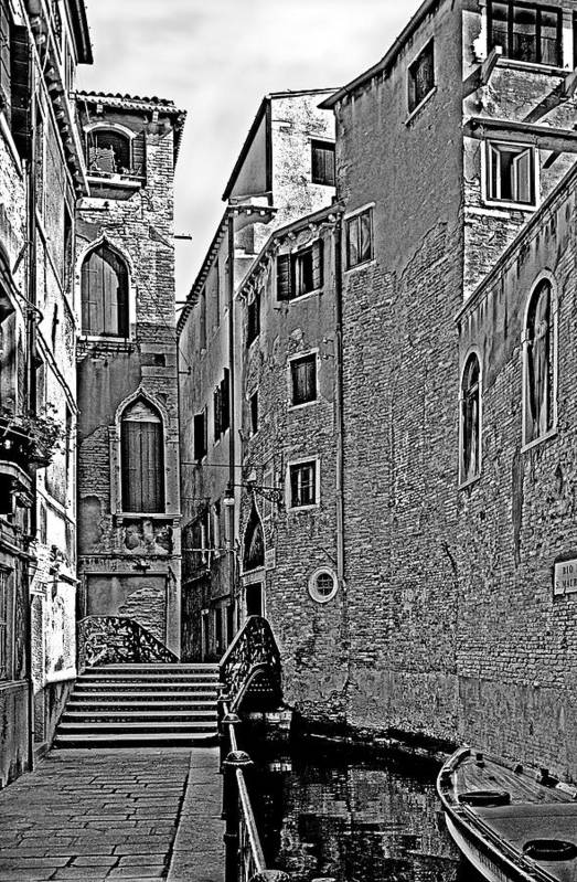 Venice In B&w Art Print featuring the photograph Venice 2 by Victor Yekelchik